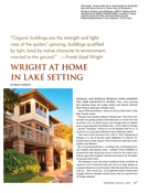 Wright at Home in Lake Setting - Mark Wyatt House Design