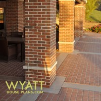 Windermere stamp-crete patio brick, walk out basement, brickwork