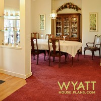 dining room ideas, formal dining room, china cabinet alcove, vaulted ceiling