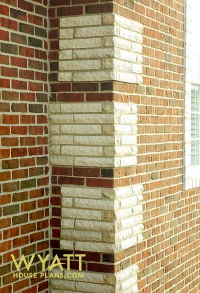 Strausburg 39 s quoin corners for Brick quoin detail