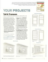 Tall and Transom window article